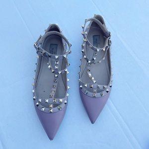 Valentino Garavani Rockstud Pink Ballet Flats